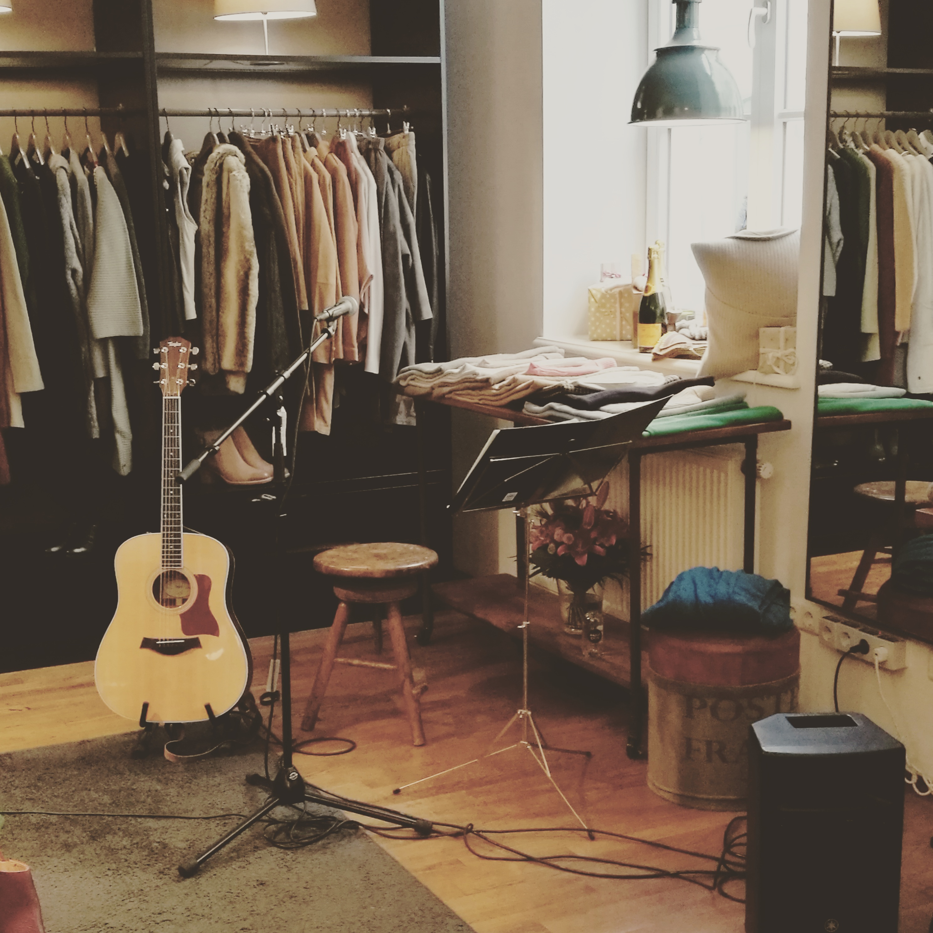 First ever gig at Trouve Bel Store